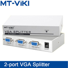 MT-VIKI  2 Port VGA Splitter 1 input 2 output HD video splitter 1 computer host to connect two monitors splitter MT-1502