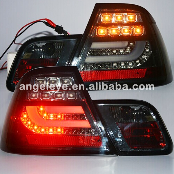 For BMW for E46 320 328 325 LED Tail Lamp rearlights 2 doors 2003 2005 year smoke Black Color SN
