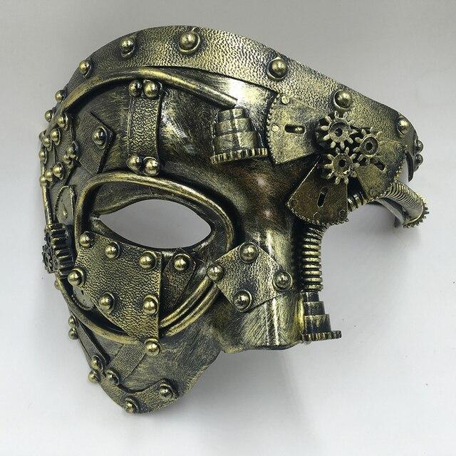 Steampunk  Phantom Masquerade Cosplay Mask Ball Half Face Men Punk Costume Halloween Party Costume Props