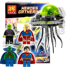 179pcs Batman vs Superman Bela 79034 DC Comics BRAINIAC ATTACK Supergirl DIY Building Bricks Minifigures Compatible with Lego