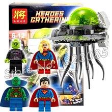 179pcs Batman vs Superman Bela 79034 DC Comics BRAINIAC ATTACK Supergirl DIY Building Bricks Minifigures Compatible with Lego