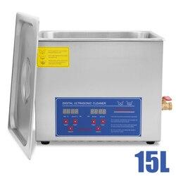 VEOVR 15L Pro Digital Ultrasonic Cleaner Cleaning Jewellery Bath w/ Heater Tank Timer