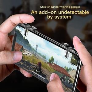 Image 3 - Baseus Handy Spiel Controller Für PUBG Gamepad Trigger Feuer Taste Ziel Schlüssel L1 R1 Shooter Joystick Für iPhone Android telefon