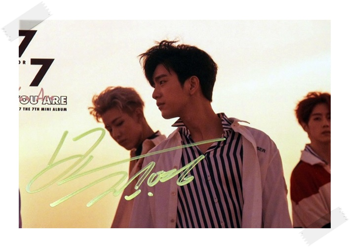 signed GOT7 GOT 7 Park Jin Young autographed photo  7 FOR 7 6 inches free shipping 102017A got7 got 7 youngjae kim yugyeom autographed signed photo flight log arrival 6 inches new korean freeshipping 03 2017