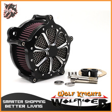 2016 hot sales Black Air Cleaner Intake Filter System Aluminum Air Cleaner Intake Filter For Harley Softail Touring Dyna Models