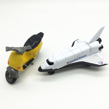 Free standard postage 2PCS mini Alloy car model spacecraft motorcycle Gift Collection metallic material kids toys