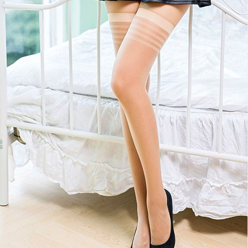 Jeseca Thin Women Sexy Over The Knee Stockings 2019 Female Fashion Thigh High Stocking Ladies Sexy Silk Transparent Long Sox