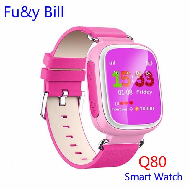Nova Moda Q80 Posicionamento GPS Relógio Telefone Inteligente 1.44 Polegada Cor das Crianças Anti Perdeu Dois-way Chamada Relógio