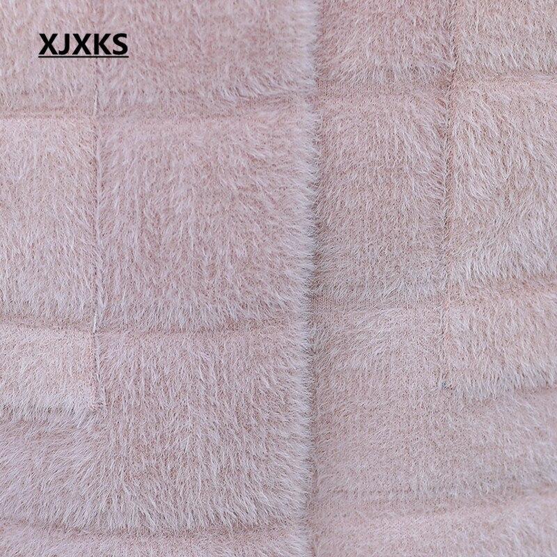 Imitation bourgogne Et Automne Vison Mandarin Femmes Xjxks Taille Rose 2018 Grande Manteau Cachemire Mode pu Col Lâche D'hiver Ciel Nouvelles Long 1RwnPEq