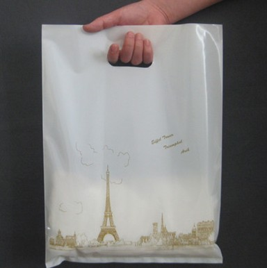 bbb063764437 50pcs 25 35(h)cm Eiffel Tower printed gift plastic bag