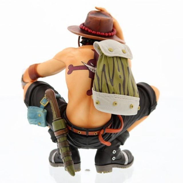 One Piece Ace Squatting Action Figure Toy