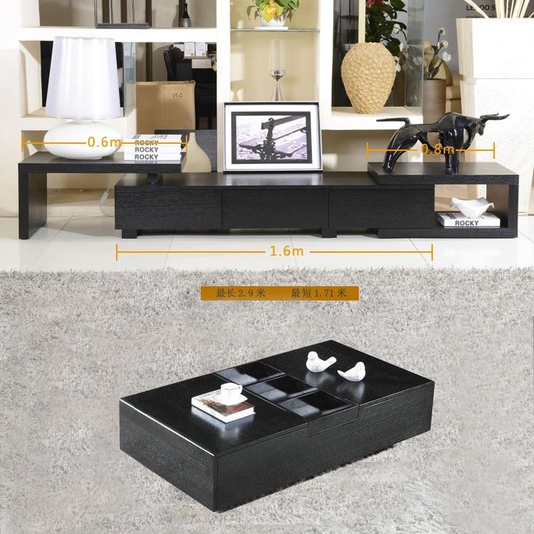2014 brief black oak retractable tv cabinet white walnut - Retractable tv cabinet living room furniture ...