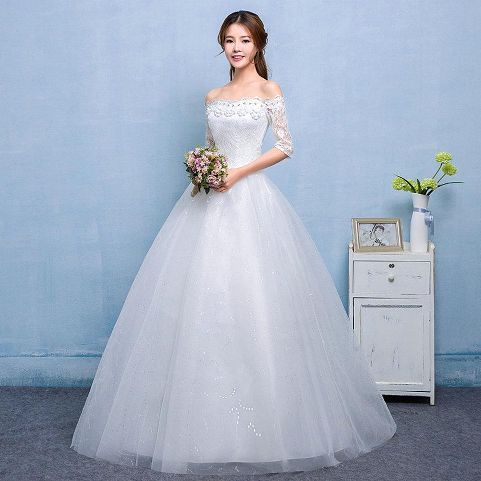 vestidos de novia Kaari Kaarie Ivory Wedding Dresses 2018 Long White ...