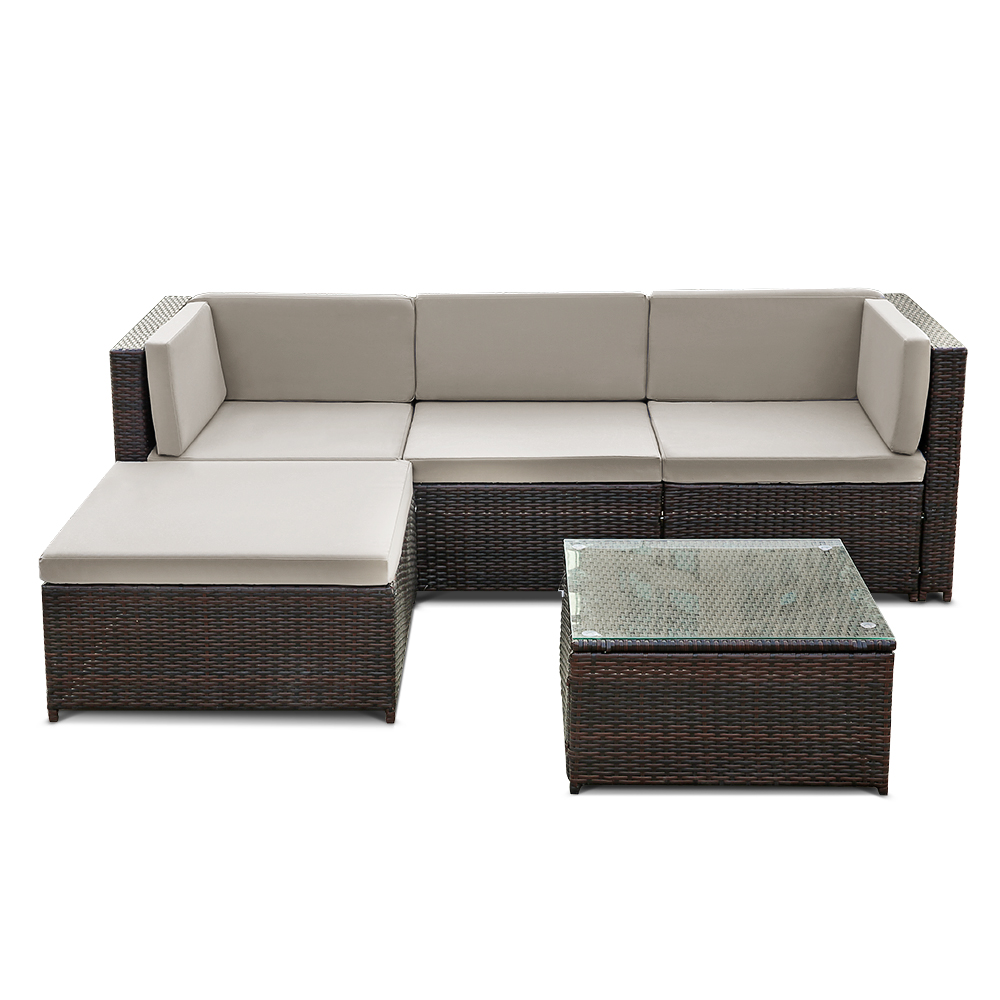 1 * Table(with Tempered Glass) 1 * L Shaped Corner Sofa(After Assembled) 9  * Cushions 1 * Assembling Instruction