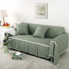 Твердые разноцветной чехол стрейч четыре сезона Диван Охватывает Протектор мебели полиэстер чехол для дивана диван домашний текстиль 1/2/3/4 местный