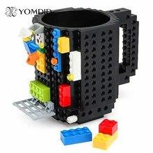 Build-Auf Ziegel Becher DIY Bulding Blöcke Kaffeetassen 350 ml Kreative Gefäße BPA FREI Legoe Tassen Geburtstagsgeschenke Tazas