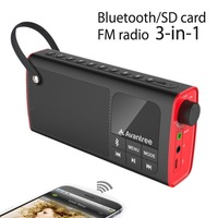 Avantree Portable Bluetooth Speaker With FM Radio And SD Card Player Auto Scan And Save Station