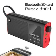 Avantree Portable Speaker 3-in-1 Bluetooth FM Radio SD Card Player Outdoor Indoor One Click Entry Replaceable Battery-SP850