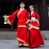 2018 New Chinese Ancient Clothing Costume Red Hanfu Costume Lovers