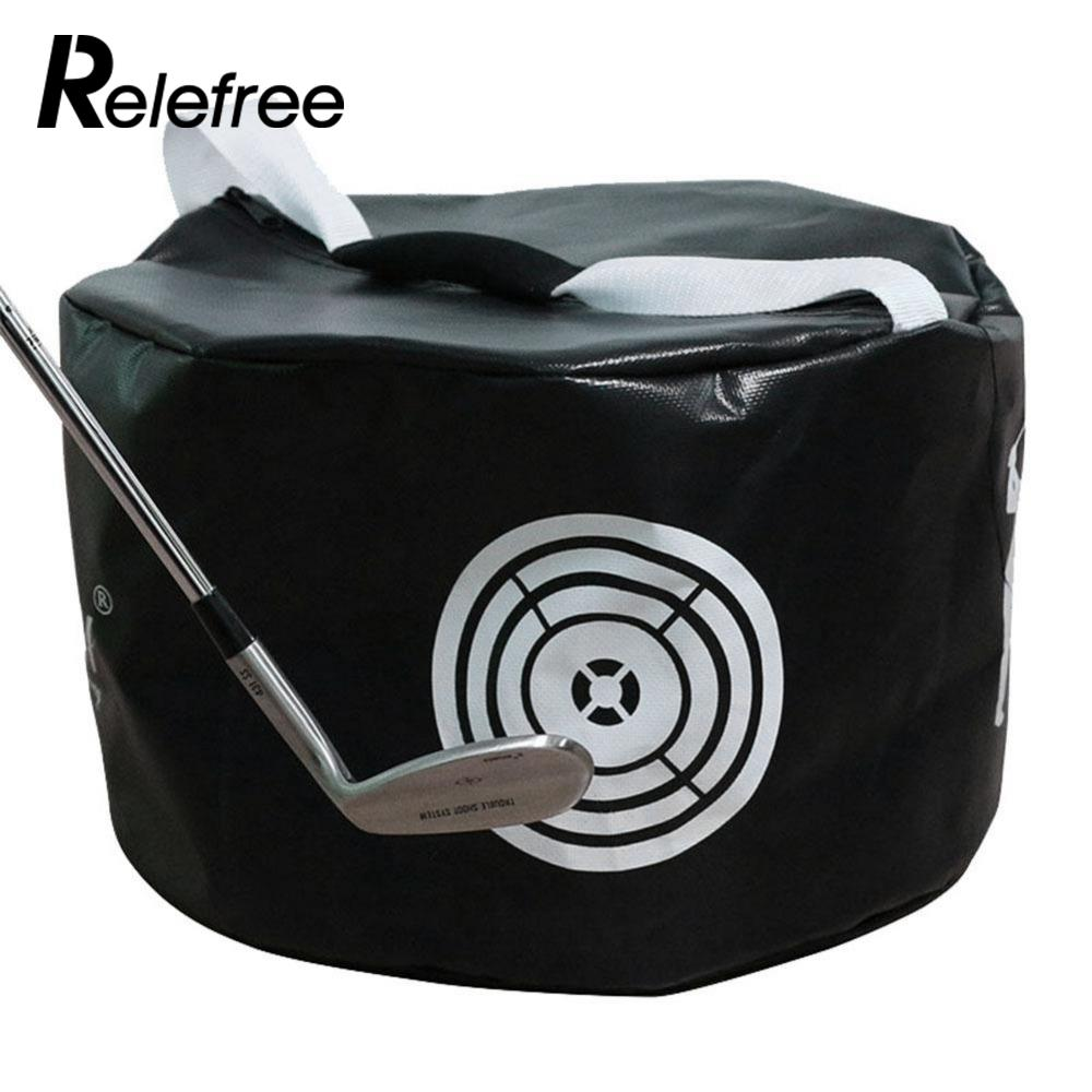 Relefree Sports Golf Power Impact Swing Aid Practice Training Smash Hit Strike Bag Trainer Black ...