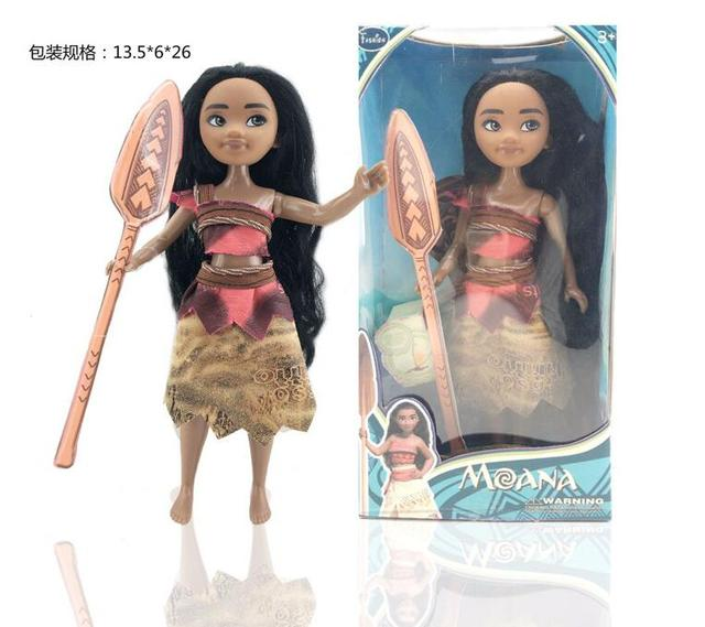 12 дюймов Принцесса Моана Куклы Каваи ПВХ Фигурку Игрушки Аниме Подарки Для Девочки Brinquedos с пакетом