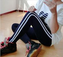 New 2016 Slim Side Stripes Yoga Pants Women Sport Fitness Stretch Running  Trousers Leggings Mallas Mujer Deportivas BK18