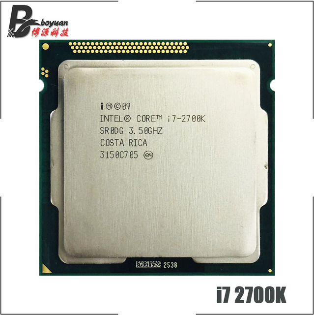 Procesador Intel Core i7 i7 2700K 2700K 3,5 GHz Quad Core CPU 8M 95W LGA 1155