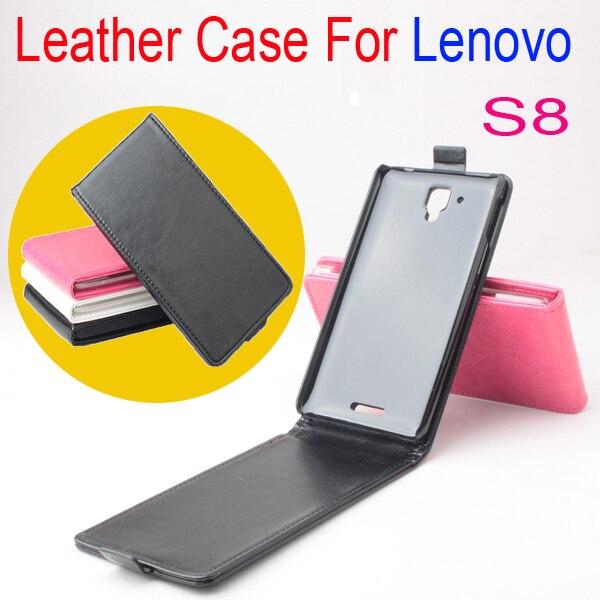 Case cubierta del tirón de cuero de lujo original de lenovo s8 teléfono celular