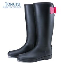 TONGPU Ladies Tall Rain Boots Fashion Style Hot Sale Comfortable Non-Slip Outsole Women Riding Boots 10-069