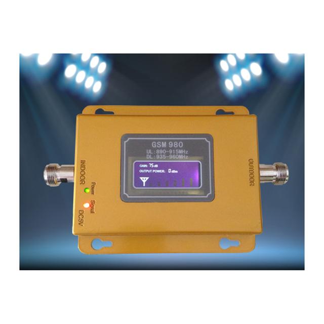 MINI REPETIDOR GSM CON PANTALLA lcd! amplificador de señal GSM 900 mhz amplificador de señal GSM con adaptador de corriente