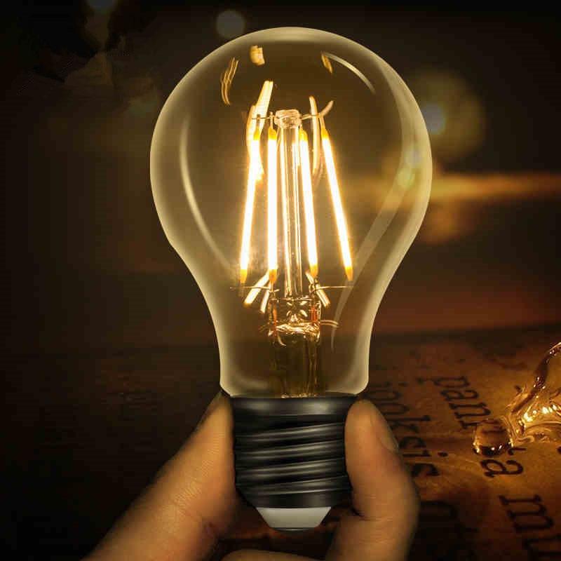 LED Edison Bulb E27 Retro Lamps 220V 240V Filament Light E14 Glass Ball Bombillas Candle Light 2W 4W 6W 8W For Home Decor lan mu led filament candle light bulb e14 220v 2w 4w 6w c35 edison bulb c35l retro antique vintage for chandelier light