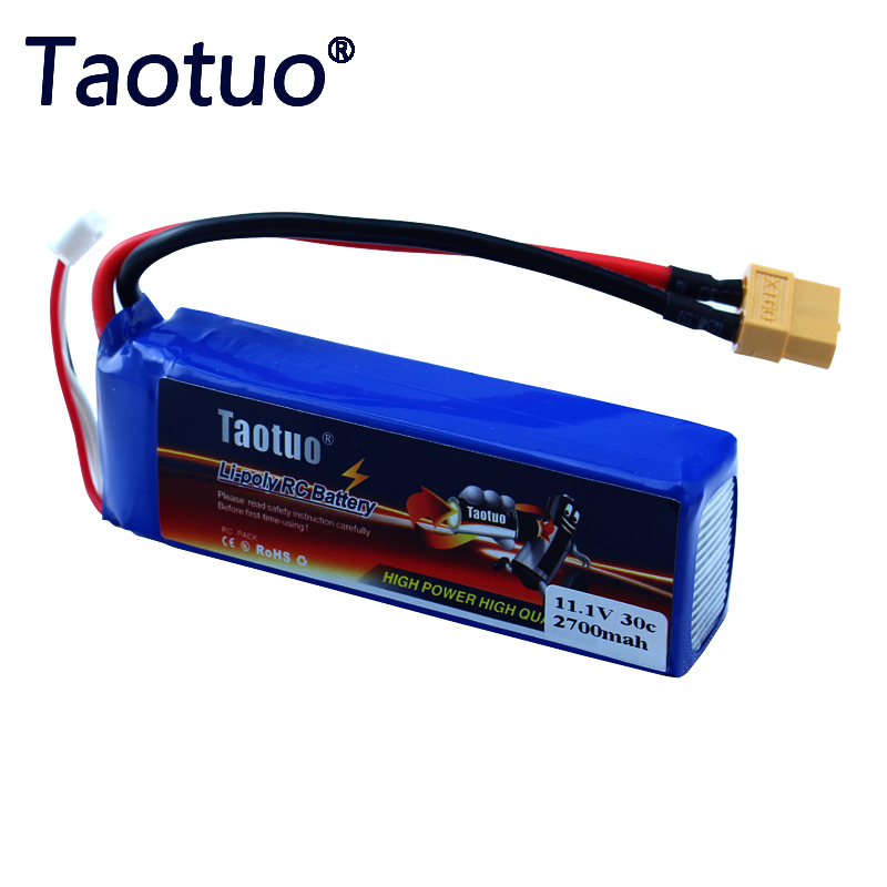Taotuo Power Li-Polymer Lipo Battery 11.1v 2700mah 30C For CX-20 WLtoys V303/V393/WL913 RC FPV Quadcopter Dron Bateria f09166 10 10pcs cx 20 007 receiver board for cheerson cx 20 cx20 rc quadcopter parts