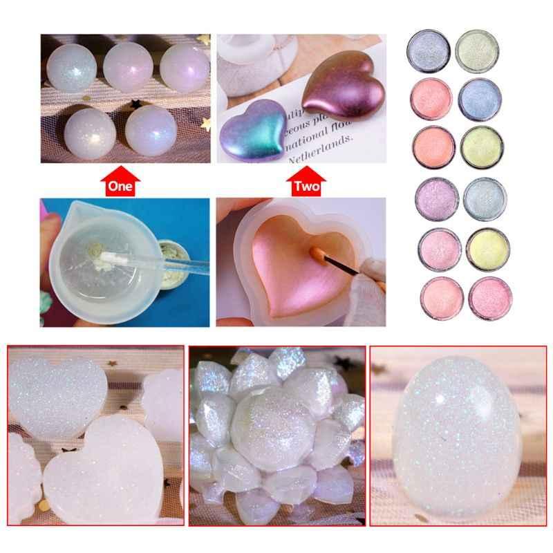 クリスタルエポキシ Diy の宝石の材料虹パウダーマニキュア作る顔料アクセサリー