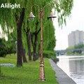 Europa Do Vintage E27 Dispositivo Elétrico de Iluminação Do Jardim Ao Ar Livre Paisagem Iluminação Led Poste Garden Path Luzes Montagem de Alumínio À Prova D' Água