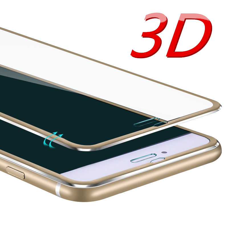 3D Aluminum alloy Tempered glass For font b iphone b font 6 6S 7 Plus 5