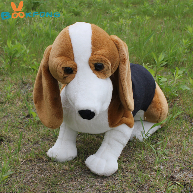 Bookfong 60cm Simulation Basset Hound Dog Plush Toy Stuffed Animal