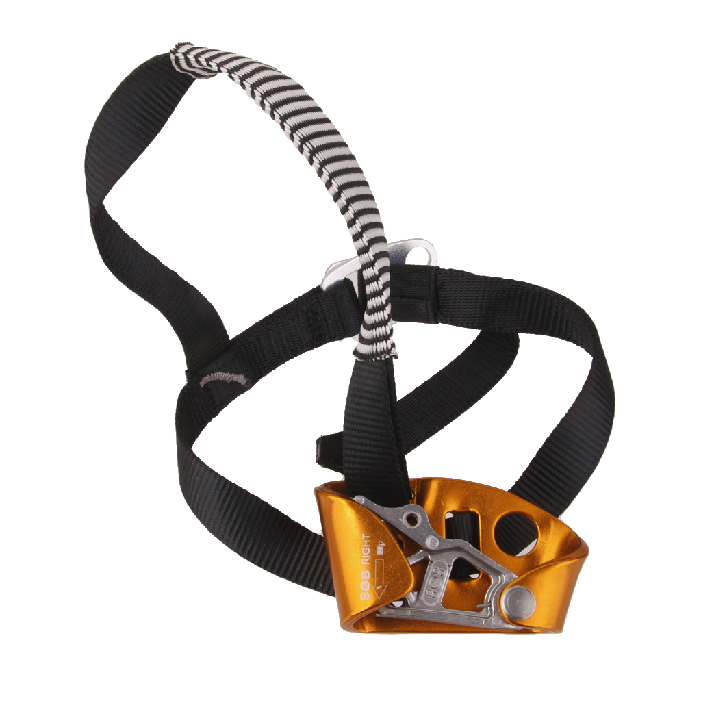 High Quality Right Foot Ascender Riser Rock Mountaineering Equipment Climbing Device Anti-dropping Protector Climbing Accessory