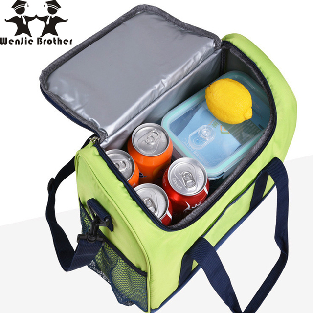 New 16L Waterproof Lunch Bag Cooler Bag for Steak Insulation Thermal Bag Thicken Folding Fresh Keeping Insulation Ice Pack