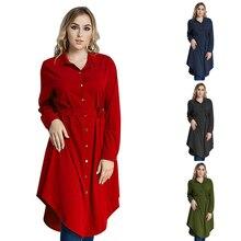 Muslim Belt A-Line Dress Maxi Trumpet Sleeve Abaya Long Robes Tunic Middle East Ramadan Arab Islamic Clothing