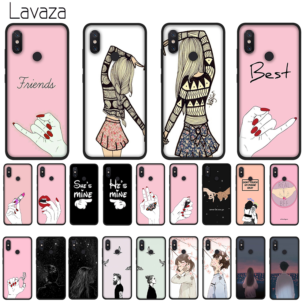 Lavaza Best Friend Girlfriend Boyfriend Soft TPU Case for Huawei Y7 Prime Y9 Y6 2018 Nova 3 3i for Honor 7A 8X 8C 8 9 10 Lite in Fitted Cases from Cellphones Telecommunications