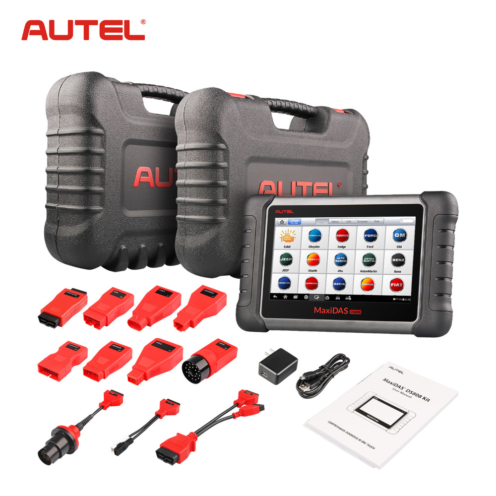 Autel Maxidas DS808K (Upgraded Version of DS808, DS708) KIT Tablet Diagnostic Tool OBD2 Scanner Code Reader Autel DS808K anne klein часы anne klein 1470rgst коллекция daily