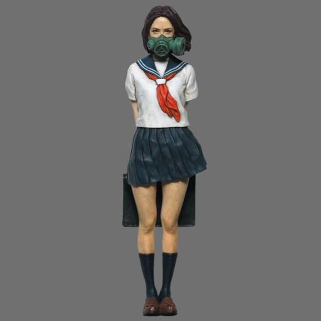 US $6 8  1/35 Scale Biochemical Japan Schoolgirl Miniatures Unpainted Resin  Model Kit Figure Free Shipping-in Model Building Kits from Toys & Hobbies