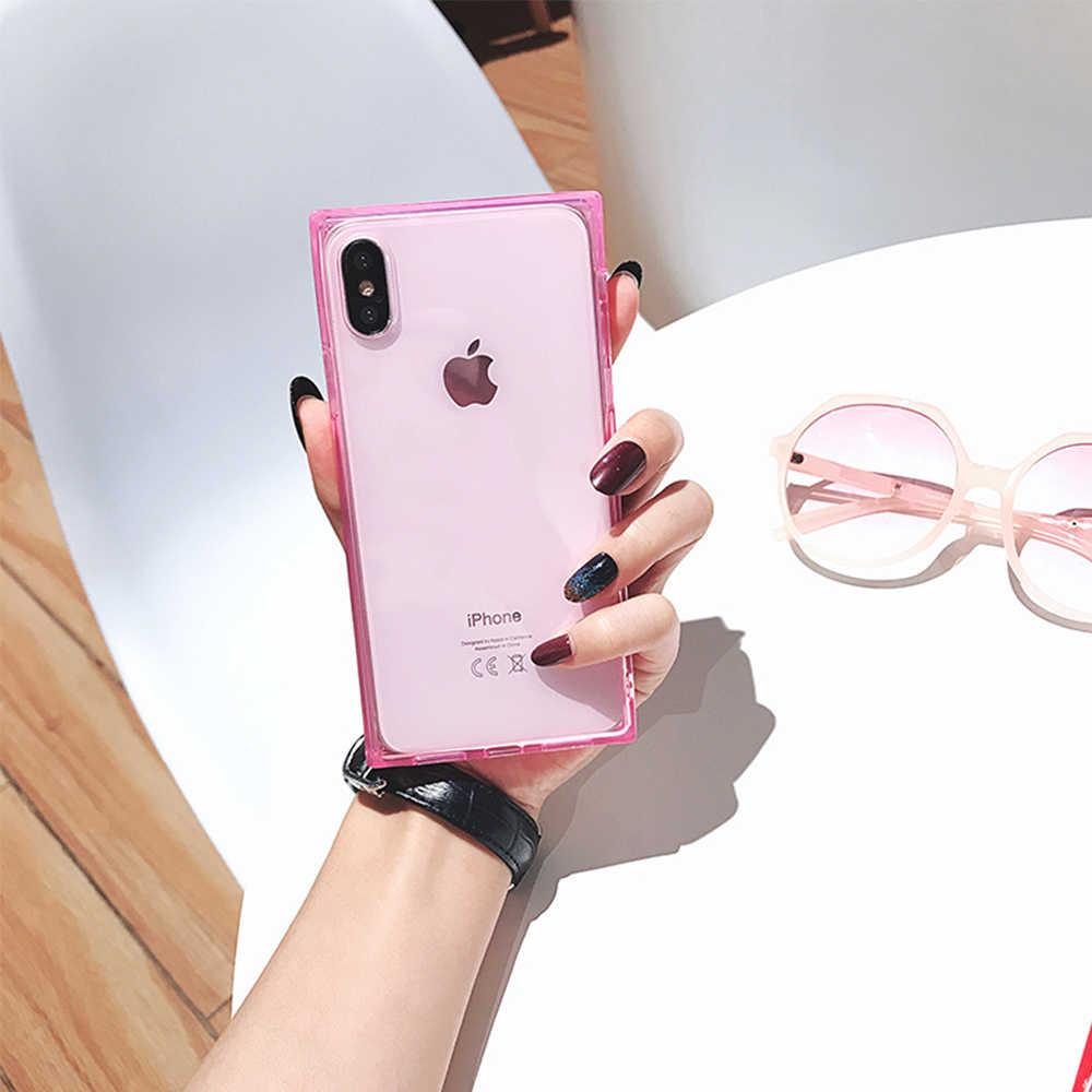 Funda cuadrada brillante para Apple Iphone 11 Pro Max 8 7 6 6s Plus X silicona suave Tpu Girl caso de la cubierta para Iphone XS MAX XR Conque