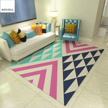 AOVOLL Nordic Polyester Soft Carpets For Living Room Carpet Kids And Home Rugs The