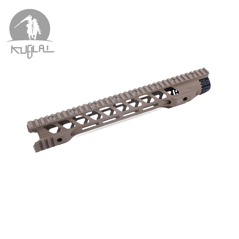 12 14 Inch MLOK Keymod Handguard Free Float Super Slim Ar 15 Handguard Quad Rail for M4 M16 Airsoft