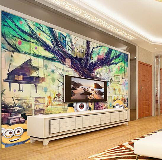 Custom Any Size 3D Wall Mural Wallpapers ,Modern Fashion Personality  Despicable Me Children Kids Room Part 95