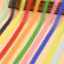 10 Yards Lace Ribbon Tape 14MM wide White Lace Trim DIY Embroidered Net lace trimmings for sewing Decoration african lace fabric