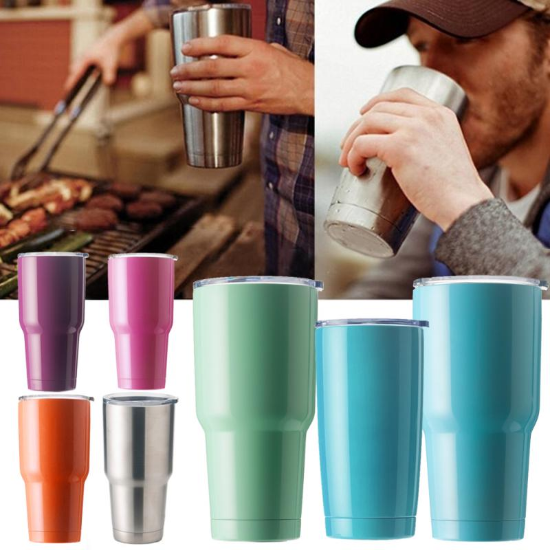 hot sale 2030oz double wall stainless steel coffee cooler bottle vacuum flask insulated vehicle