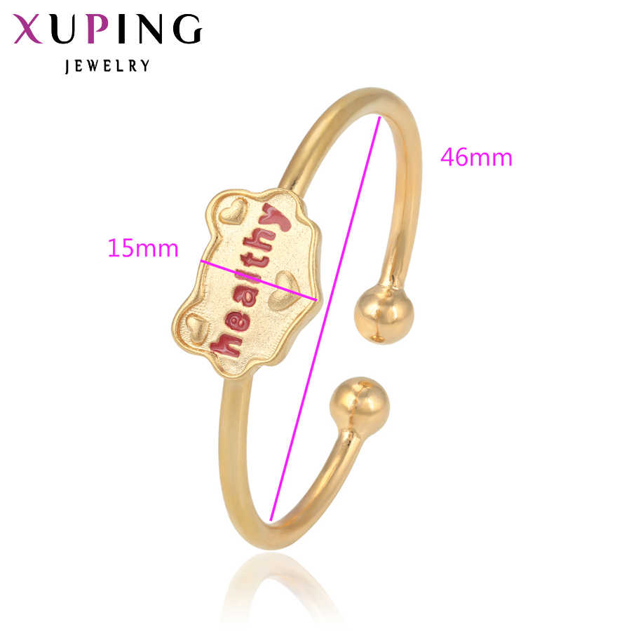 Xuping แฟชั่นกำไลข้อมือหรูหราสไตล์เครื่องประดับของขวัญเด็กอินเทรนด์ Gold Charm ขายส่ง S7-50667