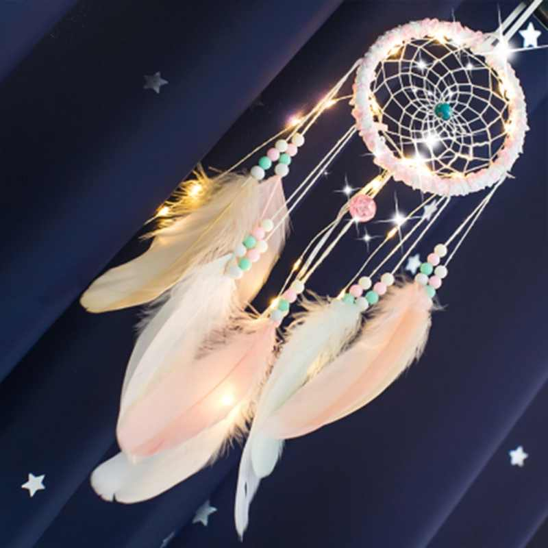 36 Colors Flying Wind Chimes Dream Catcher Handmade Gifts Dreamcatcher Feather Pendant Creative Hollow Wind Chimes Wall Hanging